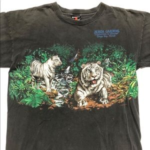 Vintage Busch gardens double sided T-shirt